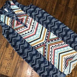 Women's Xhilaration Medium Aztec sleeveless dress